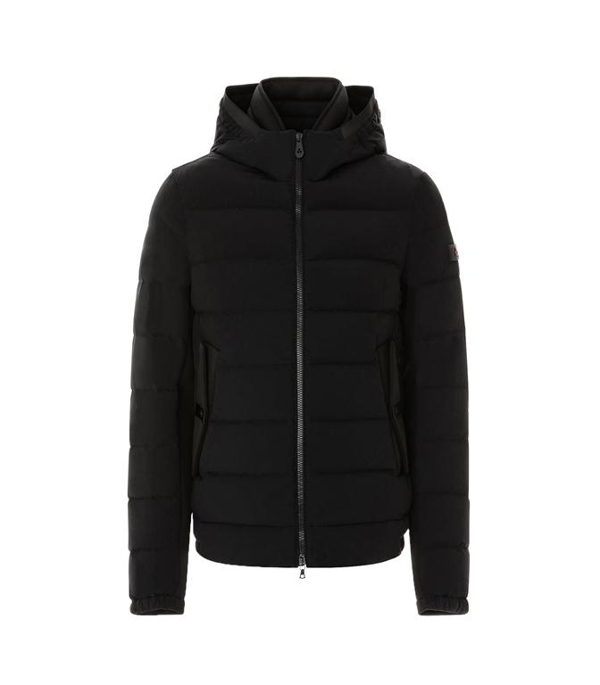 Peuterey - Giubbotti - kenobi - piumino slim in nylon e jersey nero