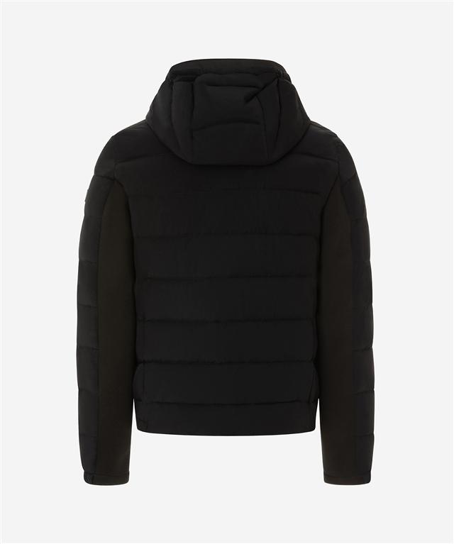 Peuterey - Giubbotti - kenobi - piumino slim in nylon e jersey nero 1