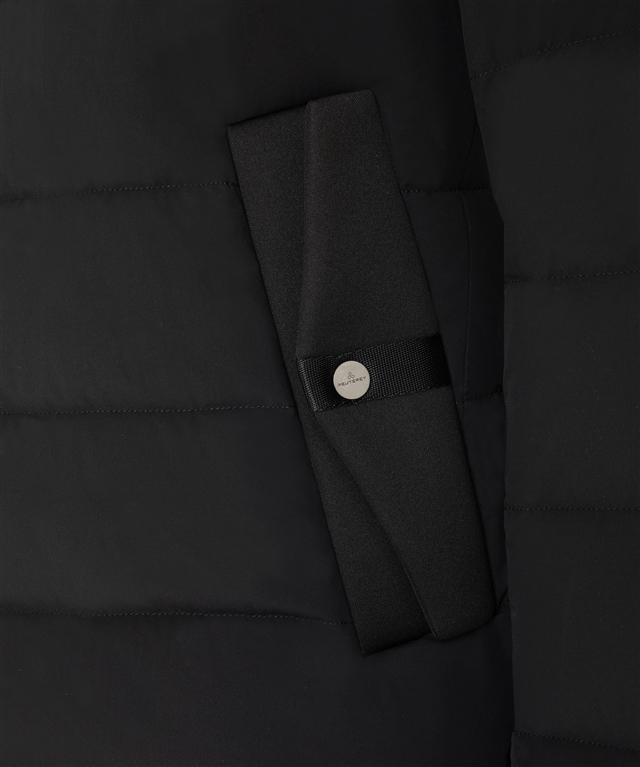 Peuterey - Giubbotti - kenobi - piumino slim in nylon e jersey nero 2