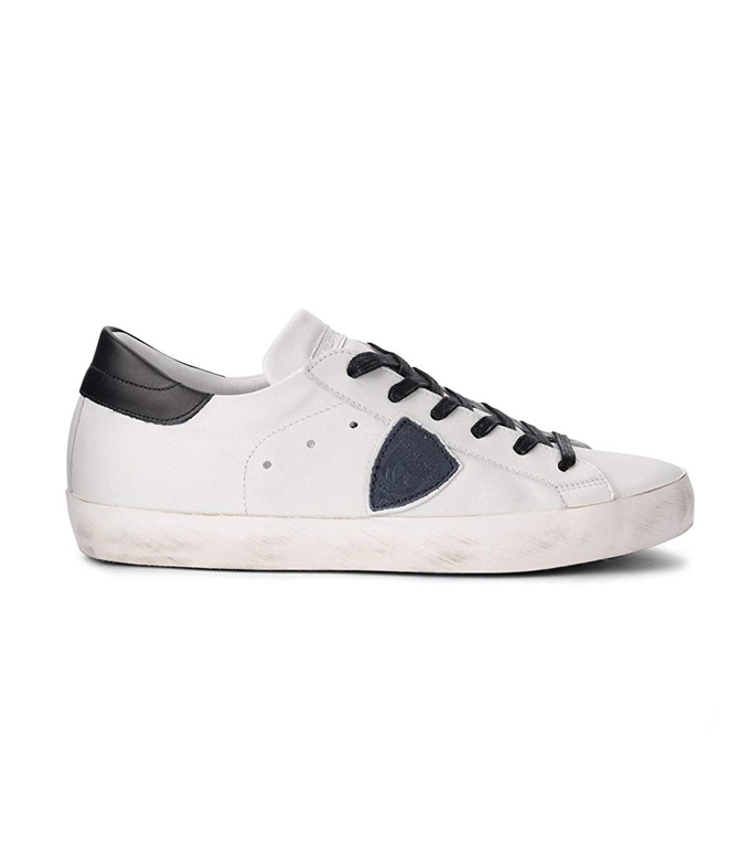 Philippe Model - Scarpe - Sneakers - PARIS - VEAU BLANC/BLEU/NOIR