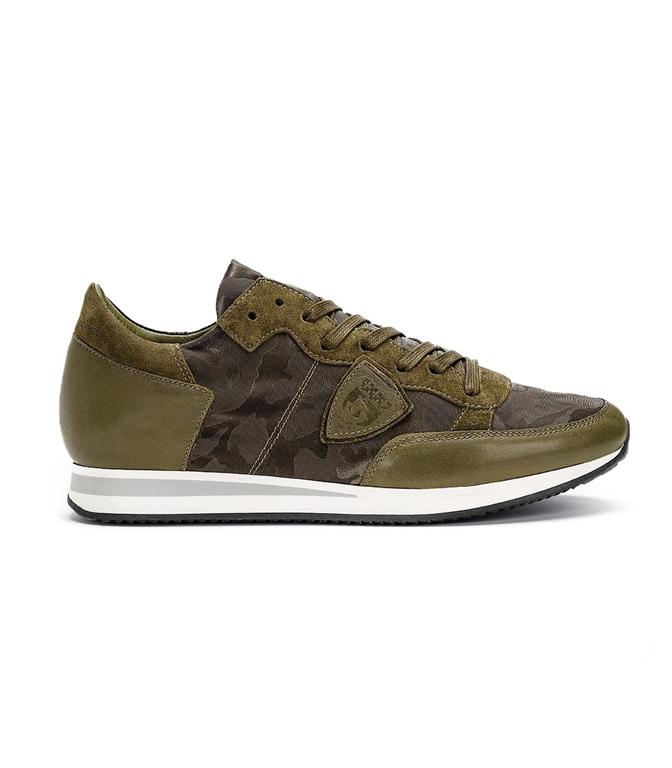 Philippe Model - Scarpe - Sneakers - TROPEZ - CAMOUFLAGE VERT