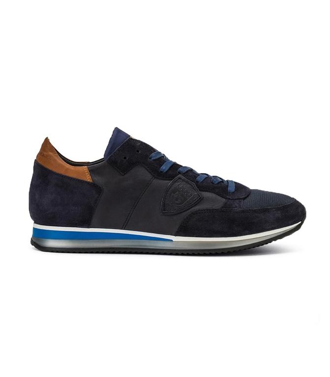 Philippe Model - Scarpe - Sneakers - TROPEZ - MONDIAL VEAU BLEU BRUN BLEU