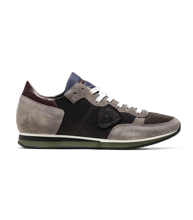 Philippe Model - Scarpe - Sneakers - TROPEZ - MONDIAL VEAU GRIS GRIS