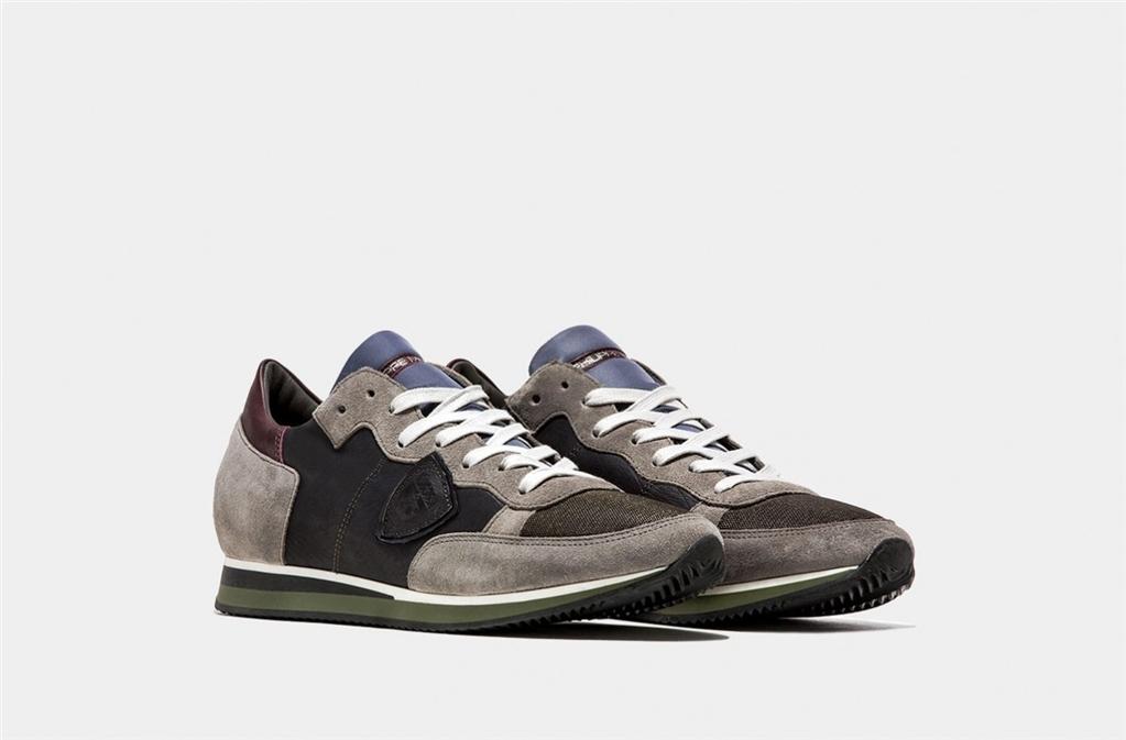 Philippe Model - Scarpe - Sneakers - tropez - mondial veau gris gris 1