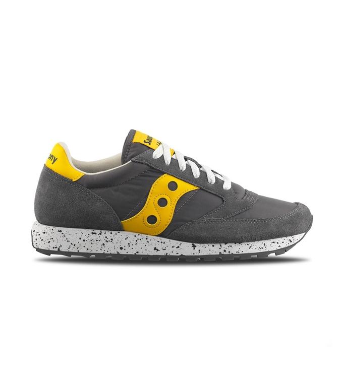Saucony - Saldi - sneakers jazz o' grey/yellow