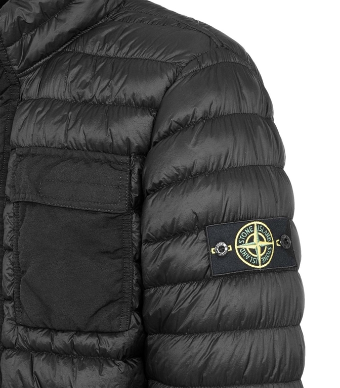 Stone Island - Giubbotti - garment dyed micro yarn down_packable nero 1