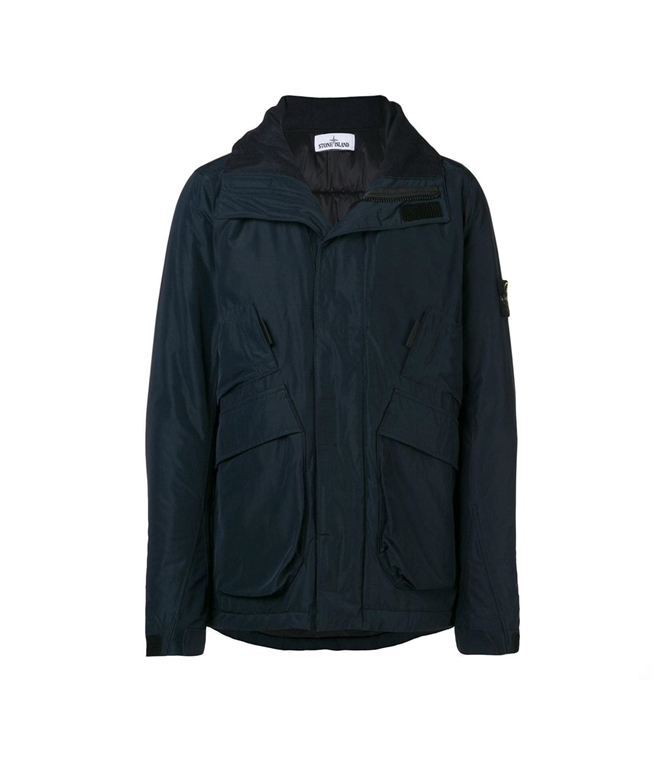 Stone Island - Giubbotti - MICRO REPS WITH PRIMALOFT INSULATION TECHNOLOGY BLU