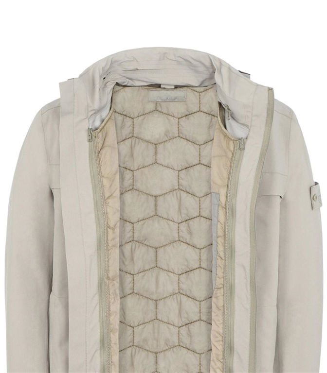 Stone Island - Giubbotti - ghost piece tank shield featuring stretch multi layer fusion technology beige 1