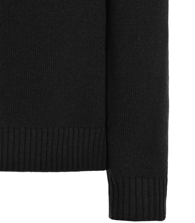 Stone Island - Maglie - maglia in lana 4 bottoni nera 1