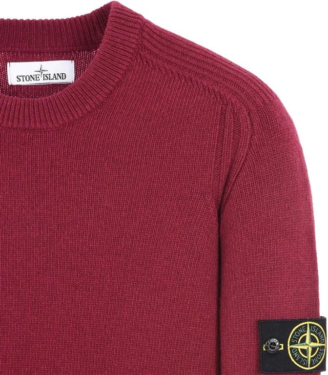 Stone Island - Maglie - maglia in lana girocollo granata 1