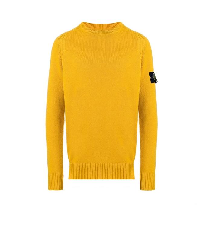 Stone Island - Maglie - maglia in lana girocollo senape