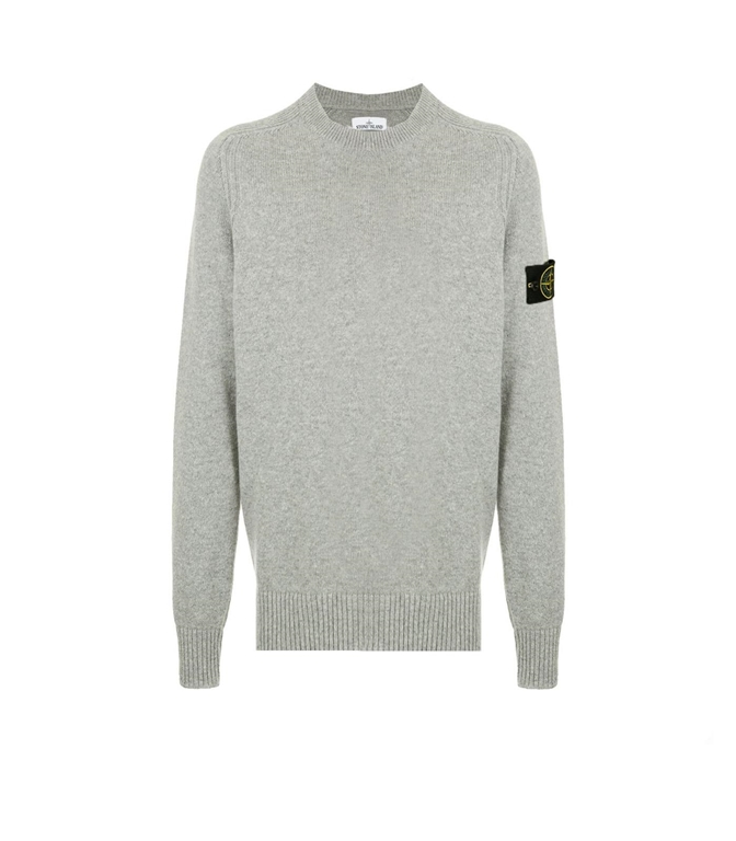 Stone Island - Maglie - maglia in lana girocollo grigio perla