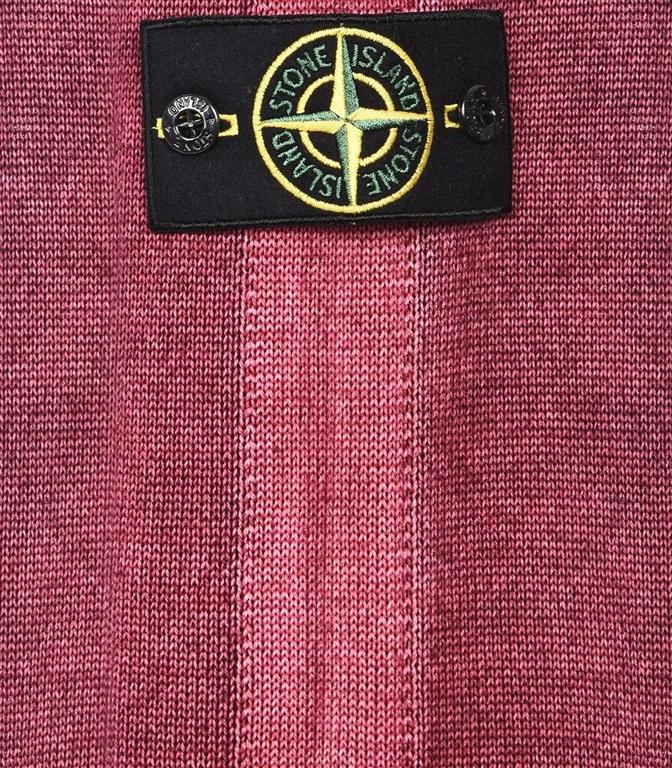 Stone Island - Maglie - maglia in lana fast dye + air brush granata 1
