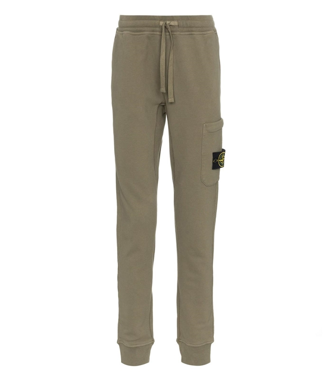 Stone Island - Pantaloni - pantalone in felpa verde oliva