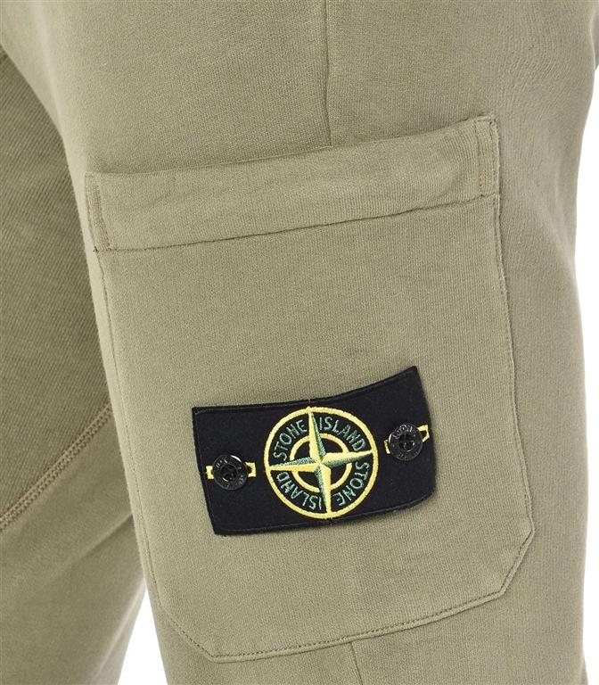 Stone Island - Pantaloni - pantalone in felpa verde oliva 1