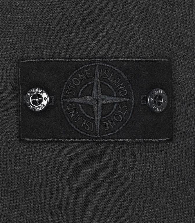 Stone Island - Felpe - felpa in lana girocollo ghost piece nera 1