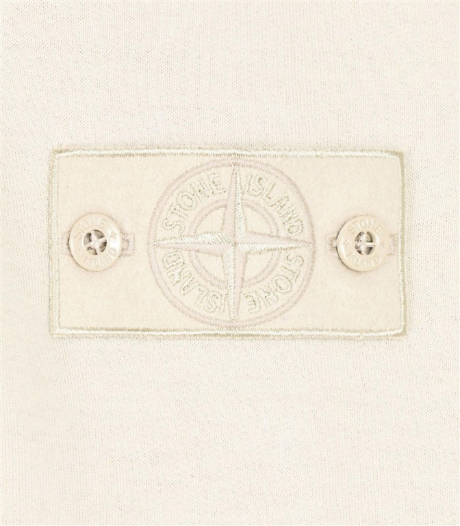 Stone Island - Felpe - felpa in lana con cappuccio ghost piece beige 1