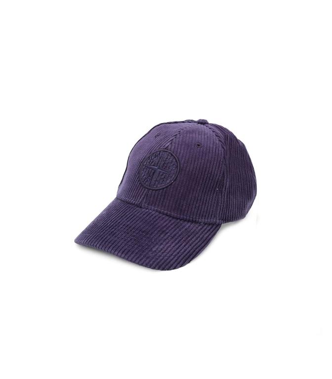 Stone Island - Saldi - cappellino in velluto inchiostro