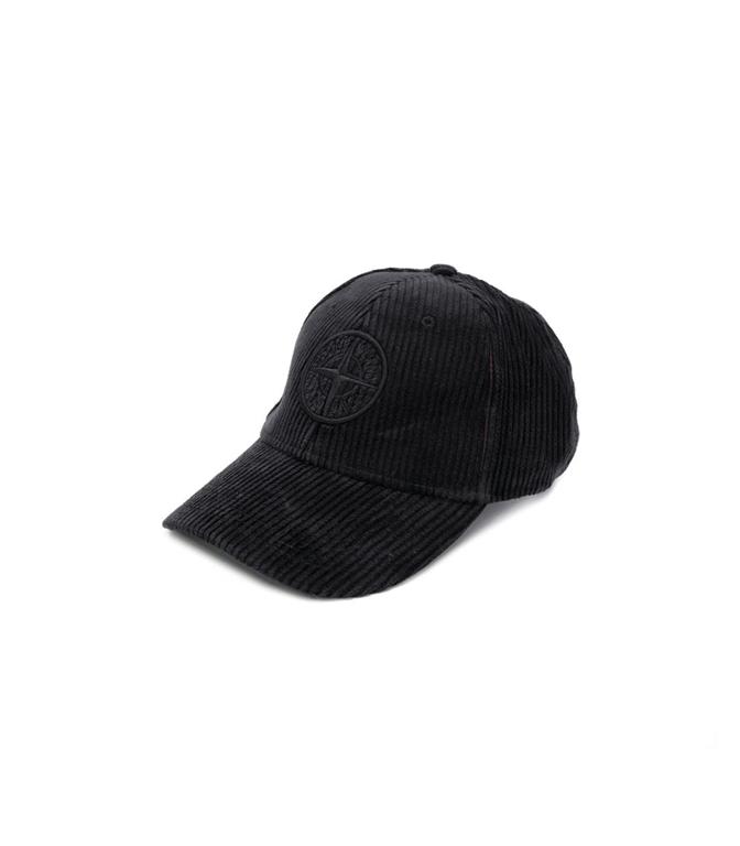 Stone Island - Cappelli - cappellino in velluto nero