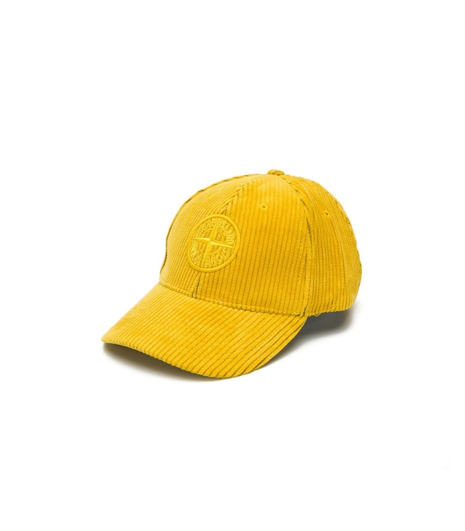 Stone Island - Cappelli - cappellino in velluto senape
