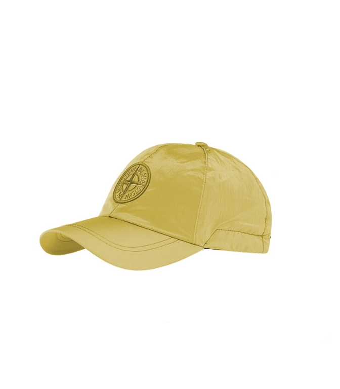 Stone Island - Cappelli - cappellino nylon metal senape