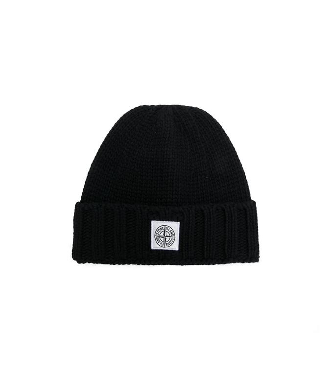 Stone Island - Cappelli - berretto in lana nero