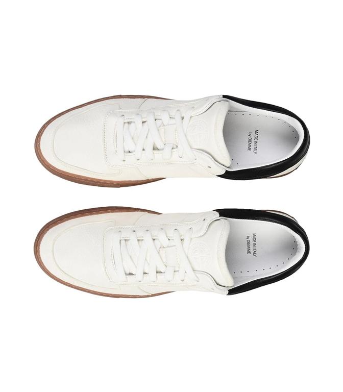 Stone Island - Scarpe - Sneakers - sneakers in pelle bianche 1