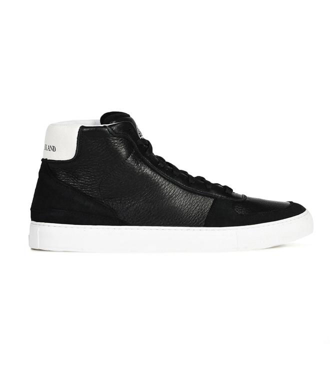 Stone Island - Scarpe - Sneakers - sneakers alte in pelle nere