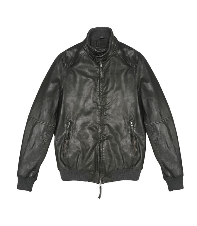 The Jack Leathers - Giubbotti - jason leather jacket verde