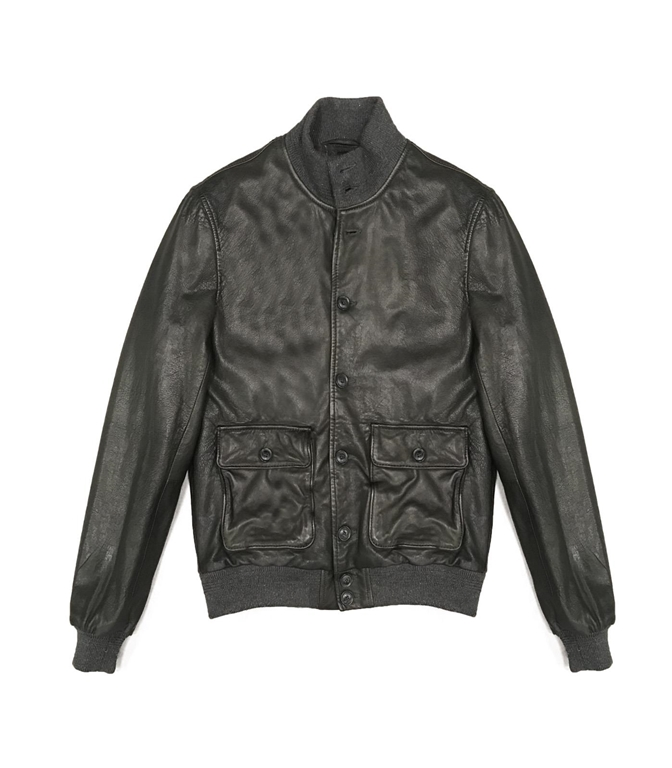 The Jack Leathers - Giubbotti - mark leather jacket verde
