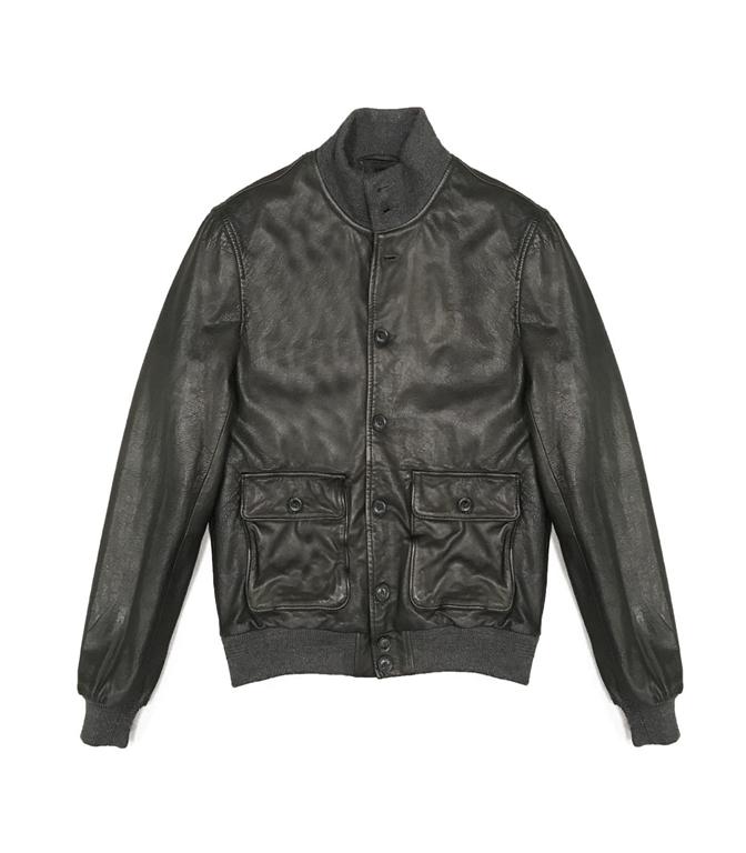 The Jack Leathers - Giubbotti - mark leather jacket verde