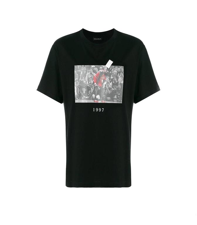 Throwback - T-Shirt - t-shirt jordan black
