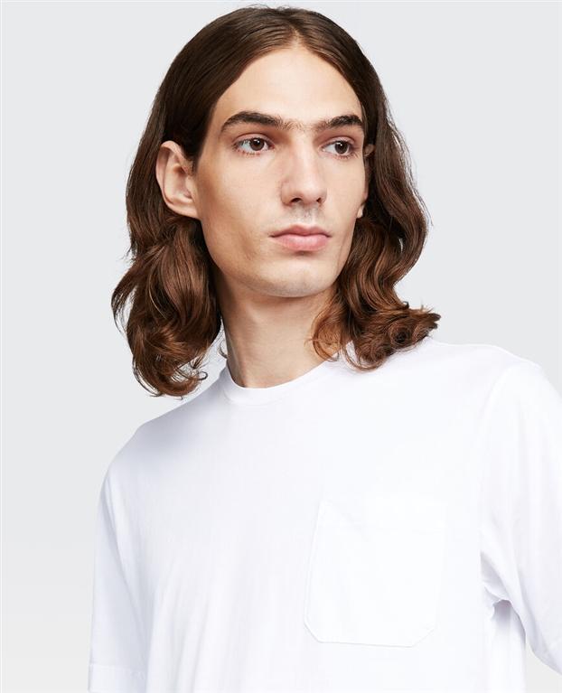 Aspesi - T-Shirt - t-shirt con taschino bianco ottico 1