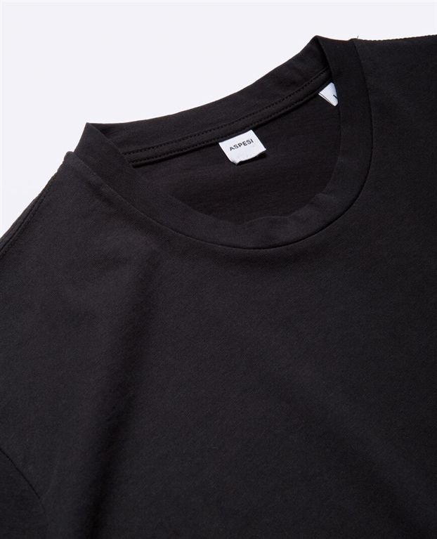 Aspesi - T-Shirt - t-shirt con taschino nera 1