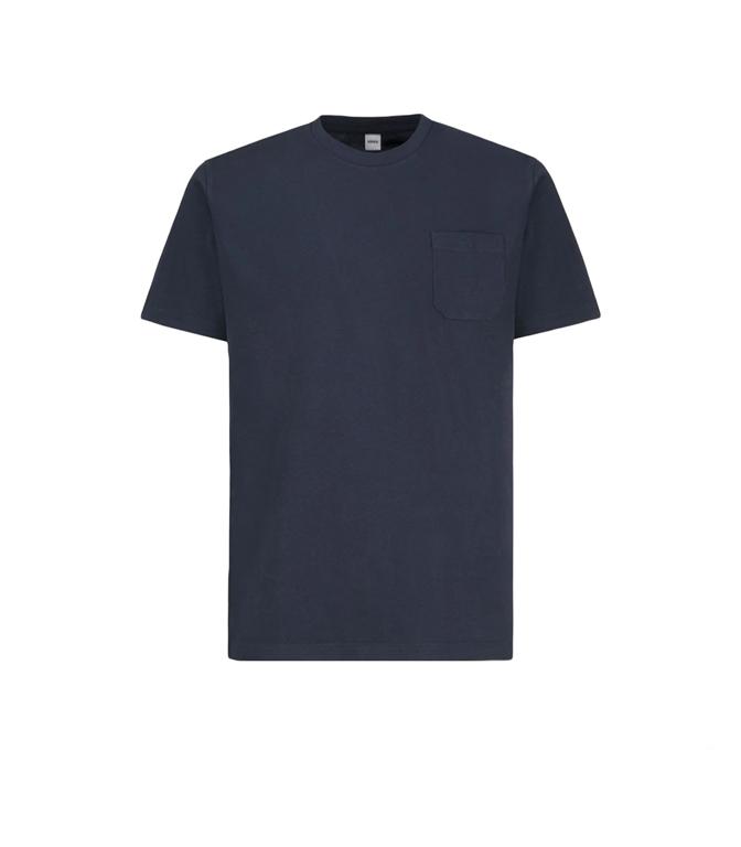 Aspesi - T-Shirt - T-SHIRT CON TASCHINO NAVY