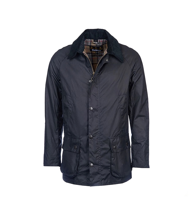 Barbour - Giubbotti - ashby wax jacket navy