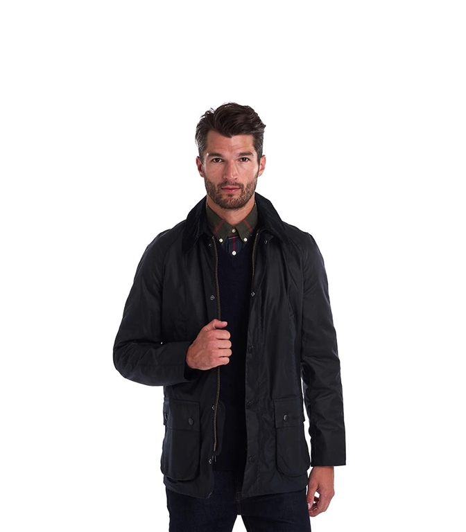 Barbour - Giubbotti - ashby wax jacket navy 1