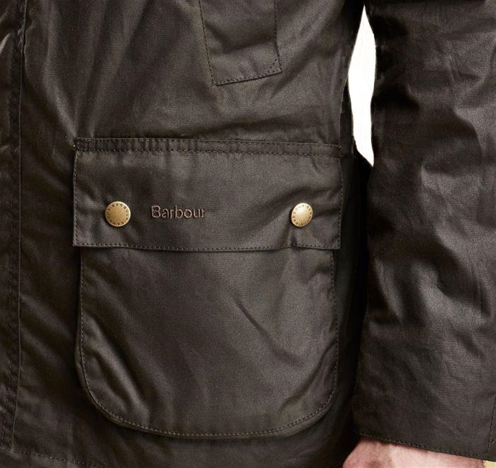Barbour - Giubbotti - ashby wax jacket olive green 1