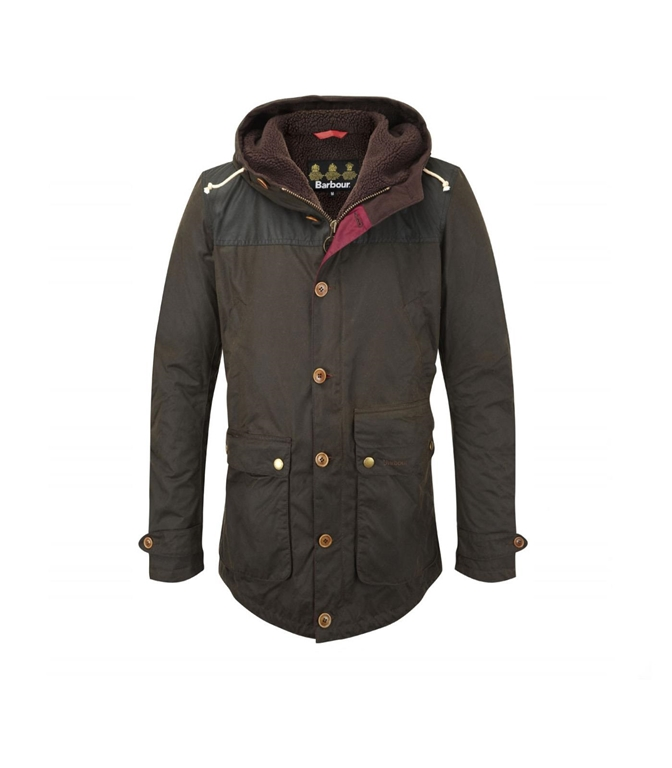 Barbour - Giubbotti - game parka olive green
