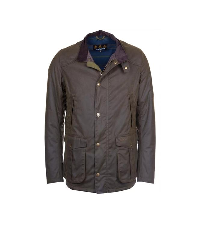 Barbour - Giubbotti - leeward wax jacket olive green