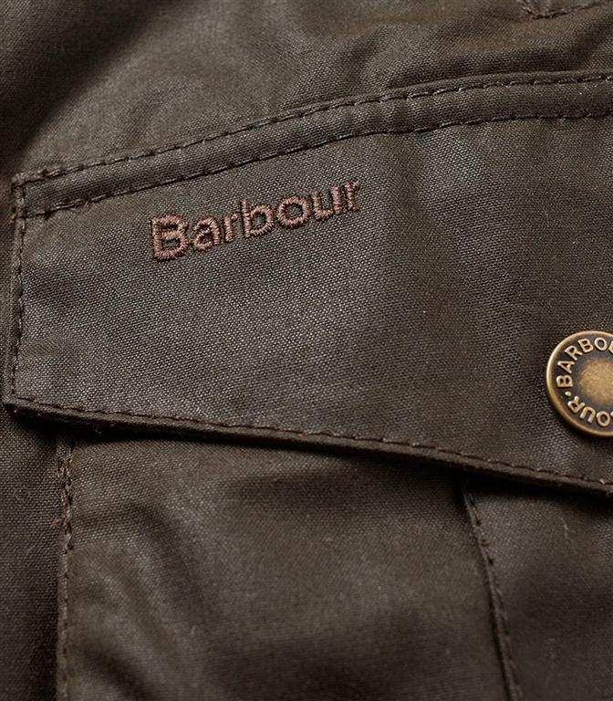 Barbour - Giubbotti - leeward wax jacket olive green 2