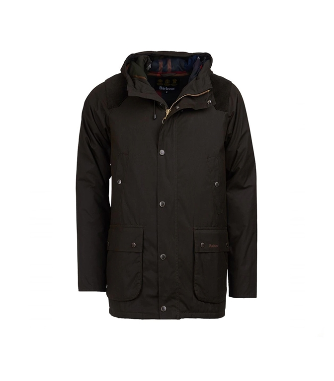 Barbour - Giubbotti - louth wax cotton jacket olive green