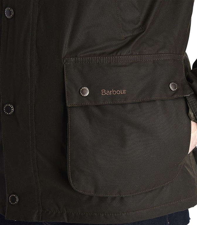 Barbour - Giubbotti - louth wax cotton jacket olive green 1