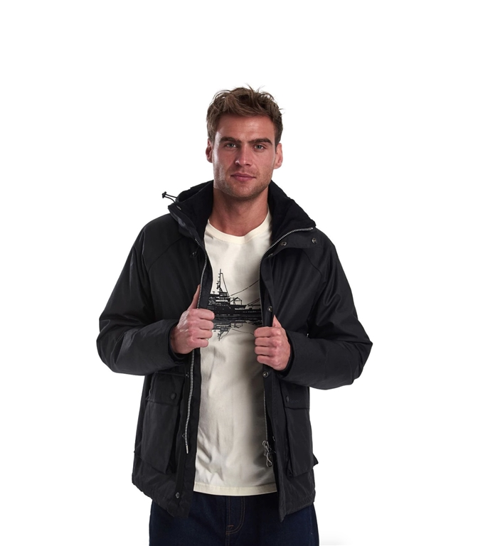 Barbour - Giubbotti - fohn wax cotton jacket black 2