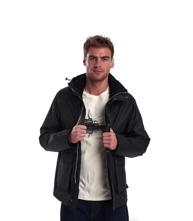 Barbour - Giubbotti - fohn wax cotton jacket black 2