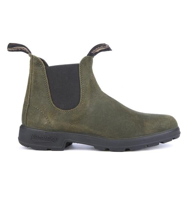 Blundstone - Scarpe - Sneakers - 1615 el side boot dark olive suede
