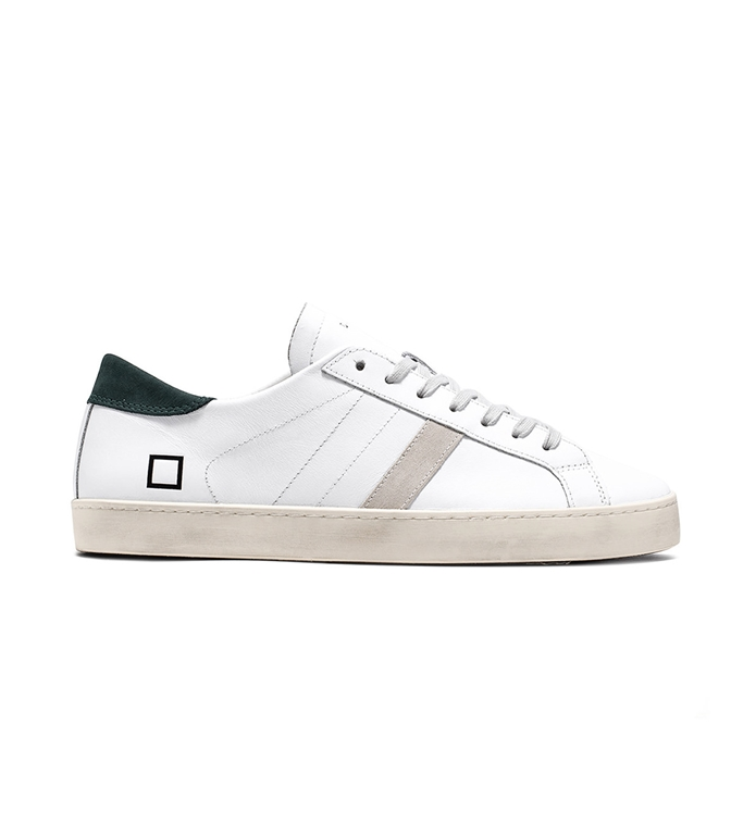 D.A.T.E. - Scarpe - Sneakers - hill low calf white green