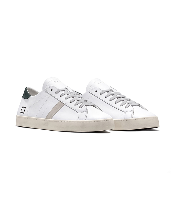 D.A.T.E. - Scarpe - Sneakers - hill low calf white green 1