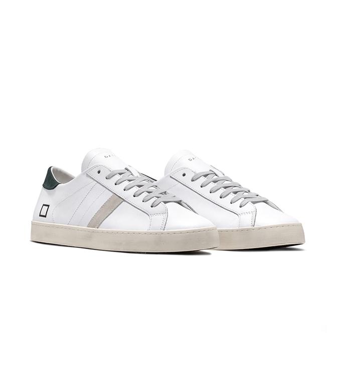 D.A.T.E. - Scarpe - Sneakers - hill low calf white green 1