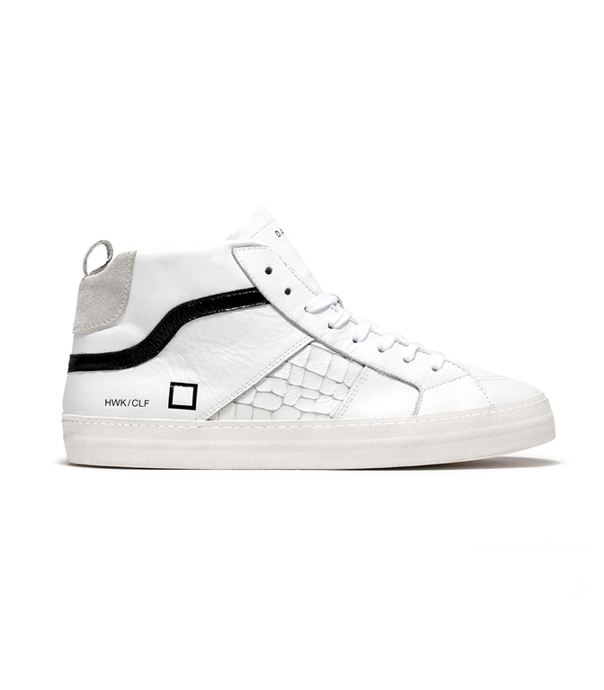 D.A.T.E. - Scarpe - Sneakers - hawk calf white black